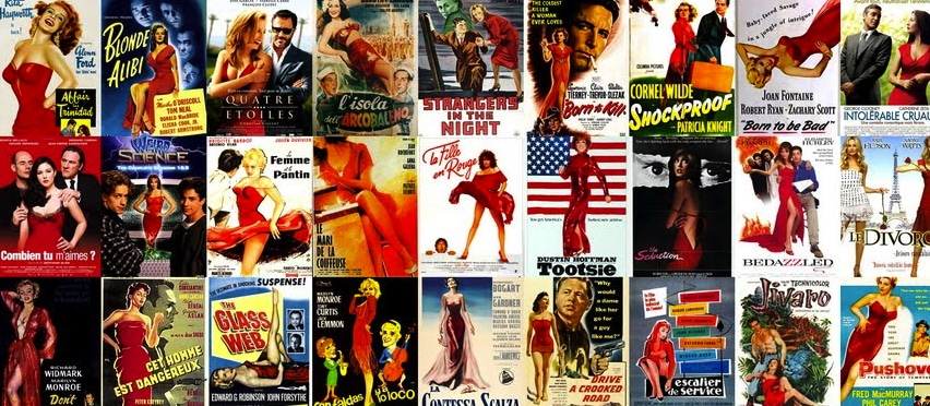 red dresses in movie posters