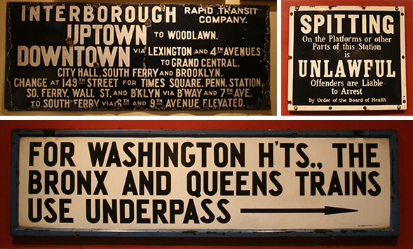 Confusing signage in the old NYC Subway