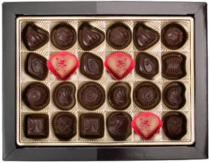 Box-of-chocolates-with-3-different-ones showing niche marketing idea