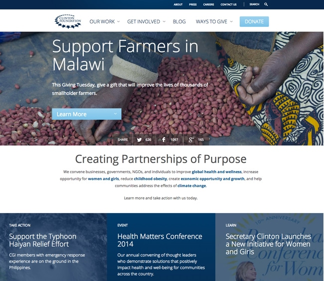 Clinton-Foundation-Home-Page