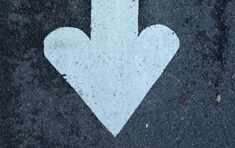 Heart on NY sidewalk