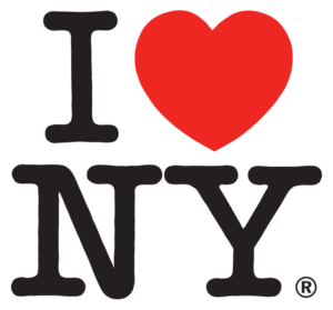 Sticky Tagline I love New York logo