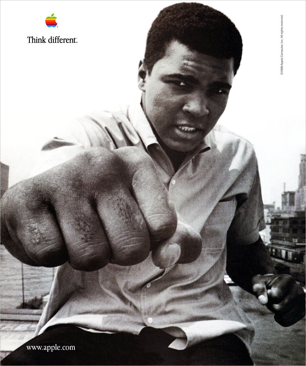 Creating A Sticky Tagline Muhammad-Ali-Apple-98-Think-Different tagline