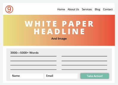 Types of Page Content White Paper Diagram