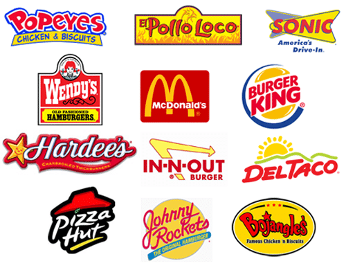 Red in Design red logos in fast food