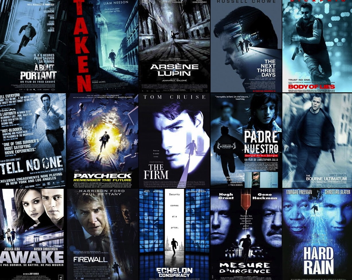 Why movie posters look the same Blue Poster Examples