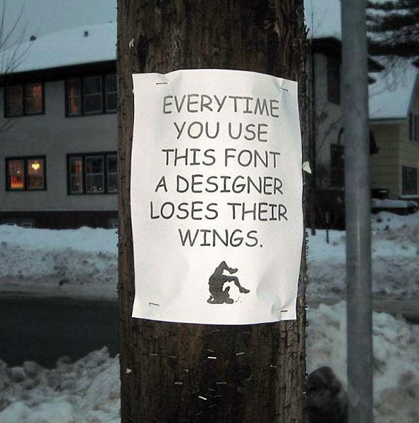 Comic Sans Hate Poster