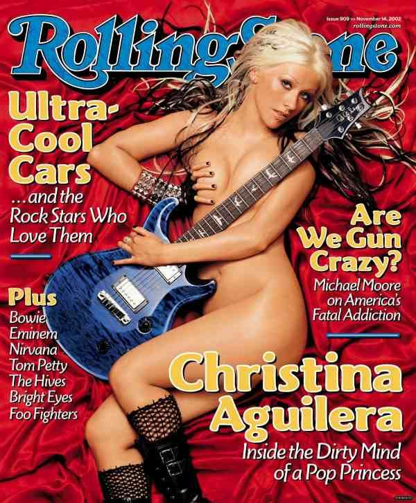 christina aguillera on rolling stone