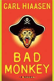 Bad Monkey book cover design by Carl Hiaasen
