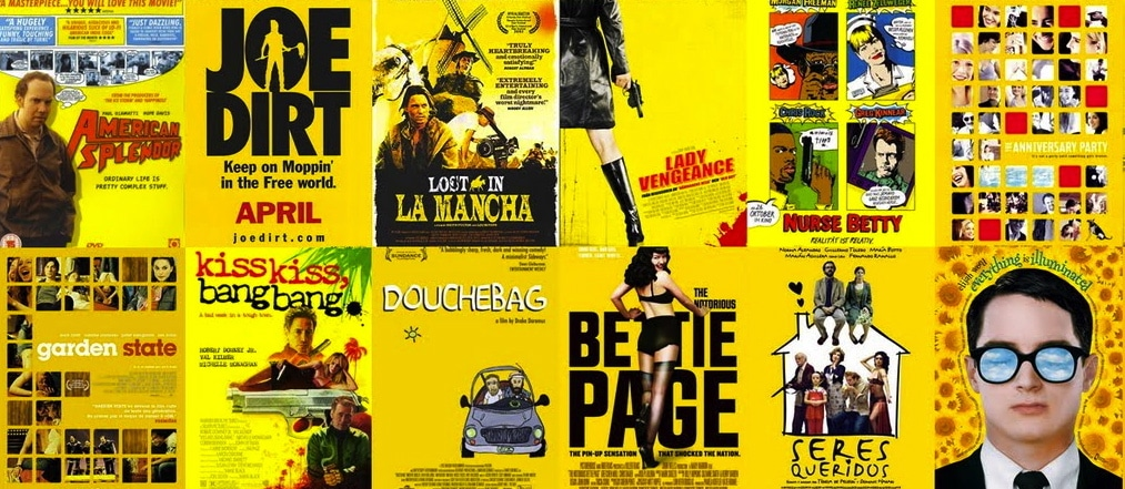 yellow, movie posters, graphic design