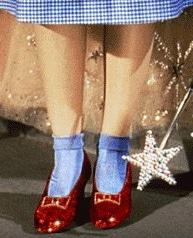 Red in Design Dorothy's ruby slippers
