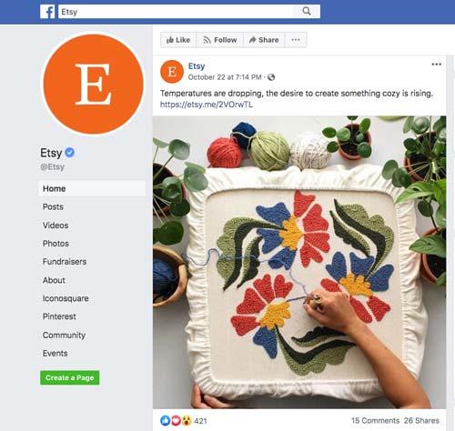 Etsy-on-Facebook