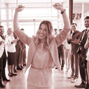 Business-Winning-Sales-Presentations-Woman-celebrating