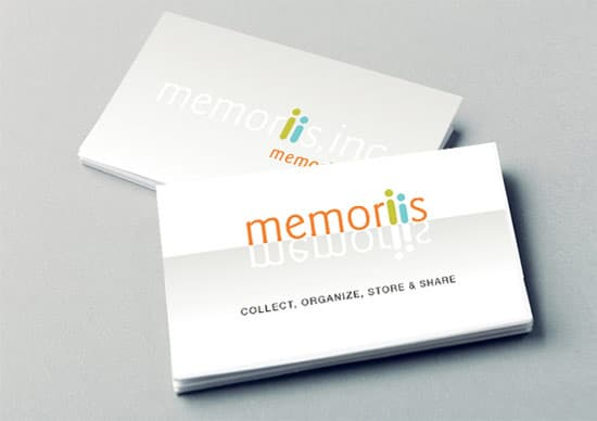 Logo and Business-Card-Design-Memoriis