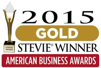 Gold Stevie Award 2015 Logo