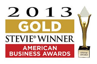 Gold Stevie Award 2013 Logo