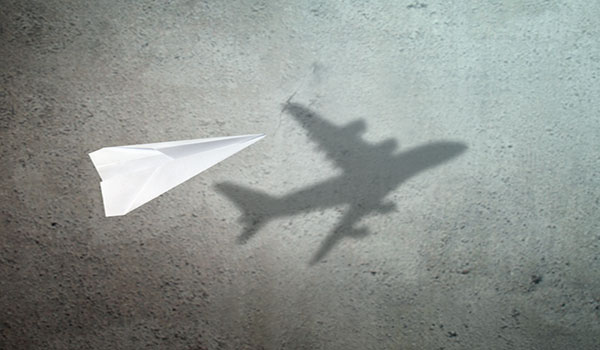 Brand Strategist Business Consultant Paper Plane Making Big Shadow