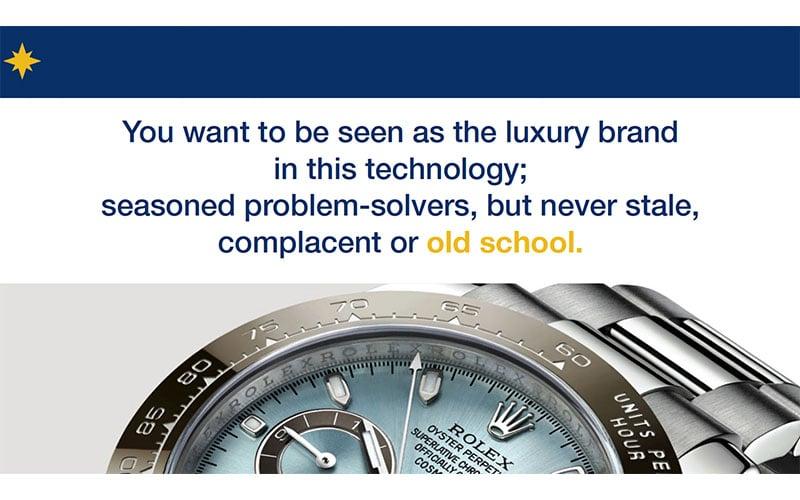Luxury Brand Idea Slide Design