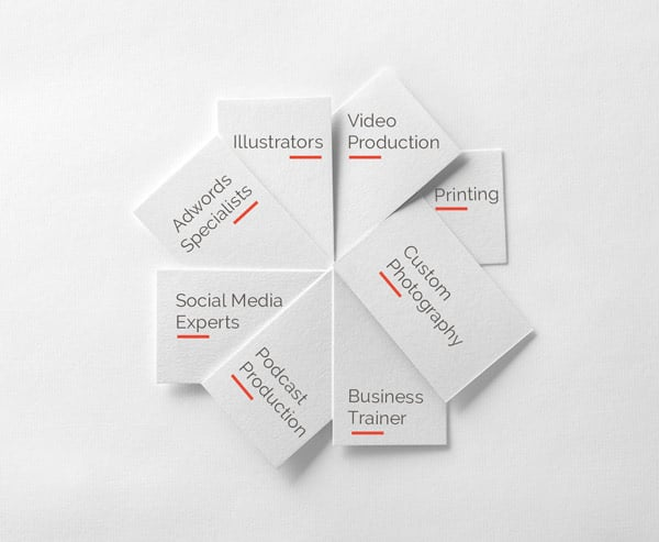 Group-of-Business-cards-Extended-Team-Concept