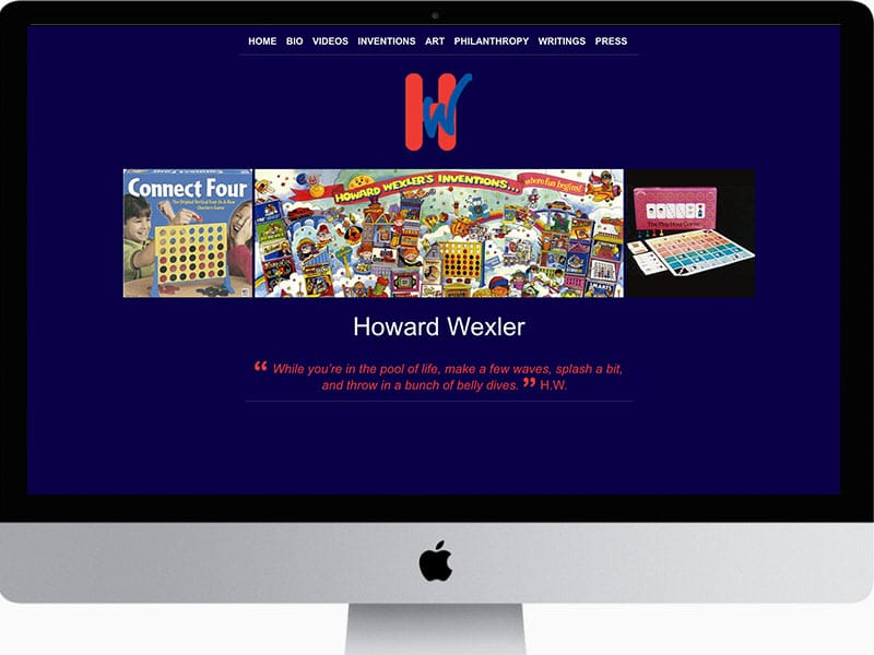 Website-Design-Howard-Wexler-Inventor