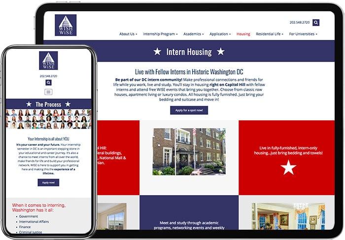 Wise-Website-design-on-Mobile