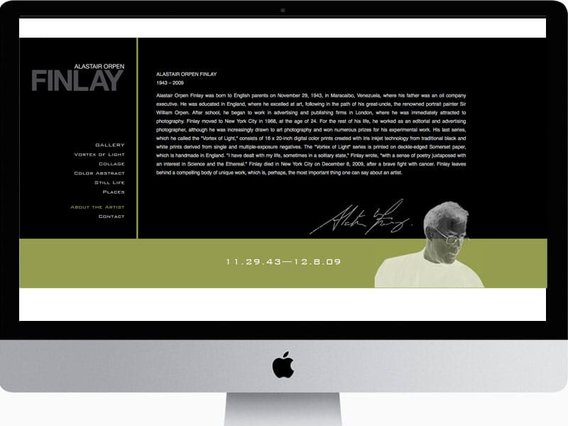 Finlay-Website-Design-About-Page