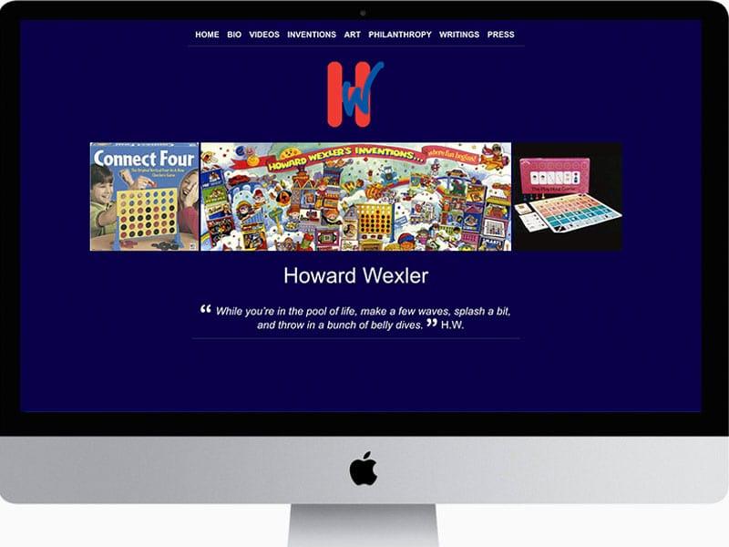Howard-Wexler-Inventor-Website-design