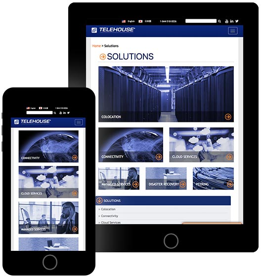 Telehouse-Website-Page-on-iPad-and-iPhone