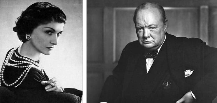 Coco Chanel and Winston Churchill