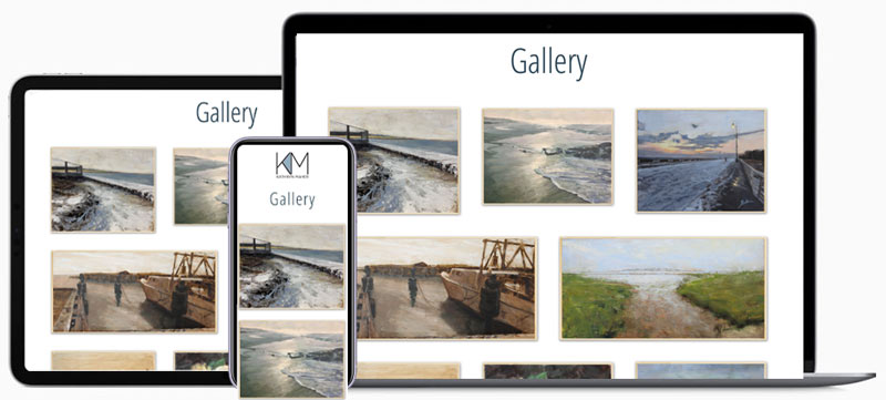 Artist-Gallery-Page-on-Mobile-Website