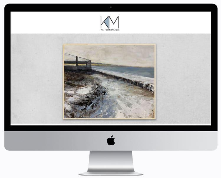 Artist Website Design Home Page