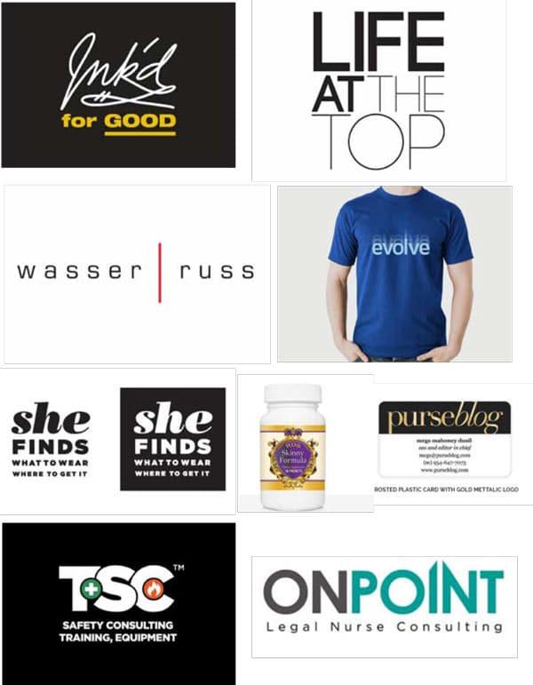 Logo Design Services Collage of Logos
