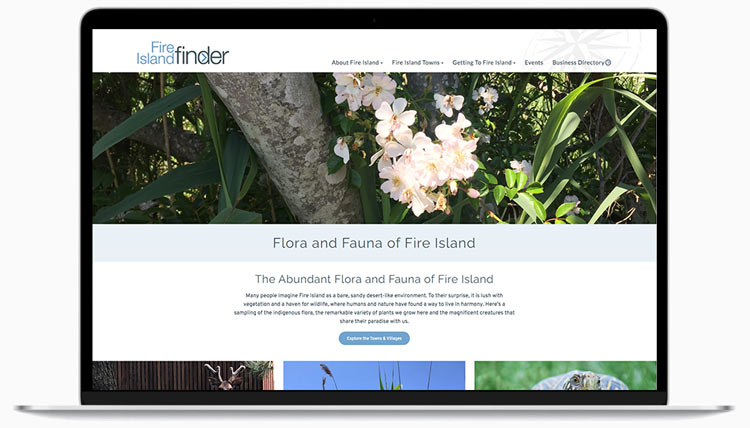 FI-Finder-Flora-and-Fauna-Page-on-laptop